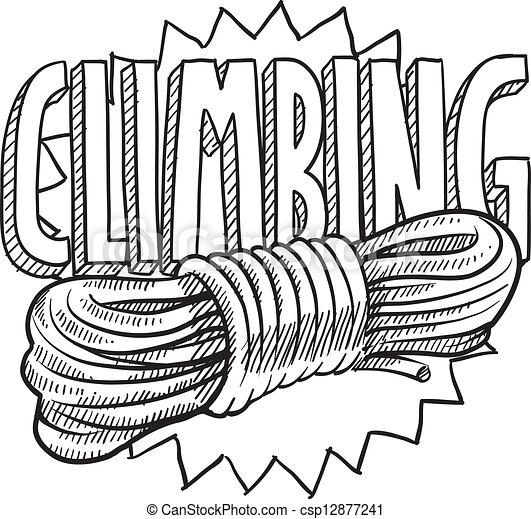 Mountain climbing sketch - csp12877241