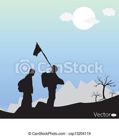 Mountain Climbing  - csp13204119