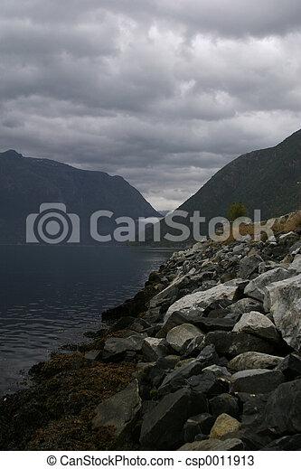 Mountain Fjord - csp0011913