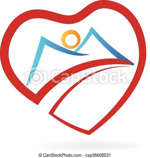 mountain heart logo vector vectors search clip art illustration rh canstockphoto com logo episodes logo eps file