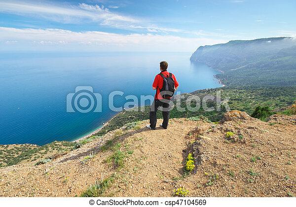 mountain., homme - csp47104569