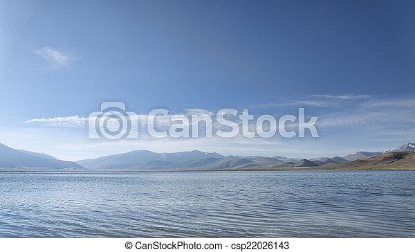 Mountain lake at morning - csp22026143