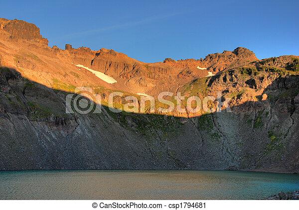 Mountain lake at sunrise - csp1794681