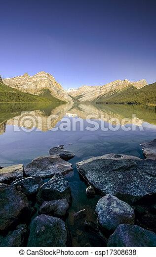 Mountain Lake in banff - csp17308638