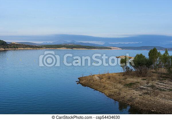 Mountain lake in Spain - csp54434630