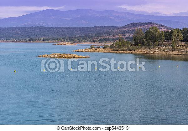 Mountain lake in Spain - csp54435131