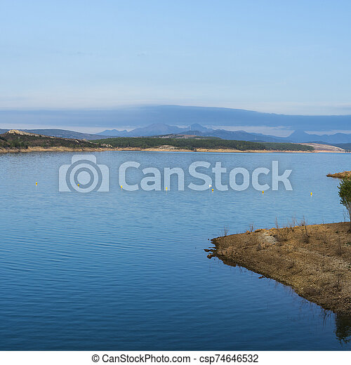 Mountain lake in Spain - csp74646532