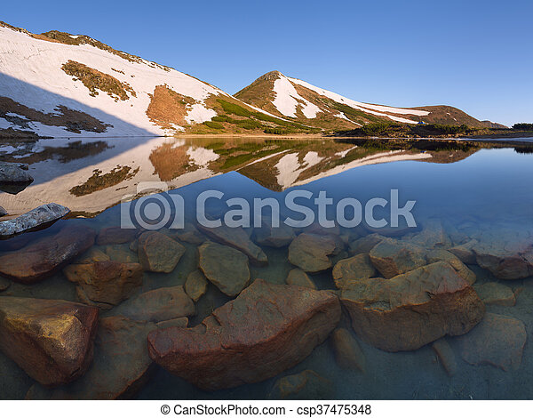 Mountain Lake in the spring - csp37475348