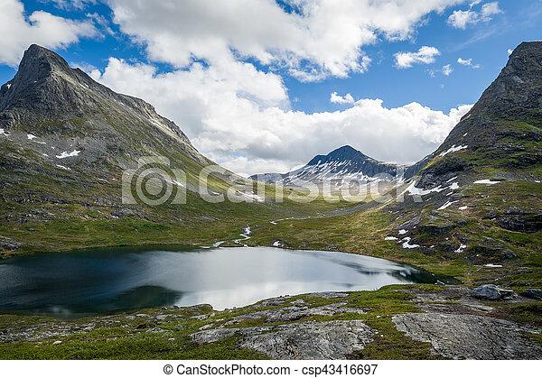 Mountain lake, Norway - csp43416697