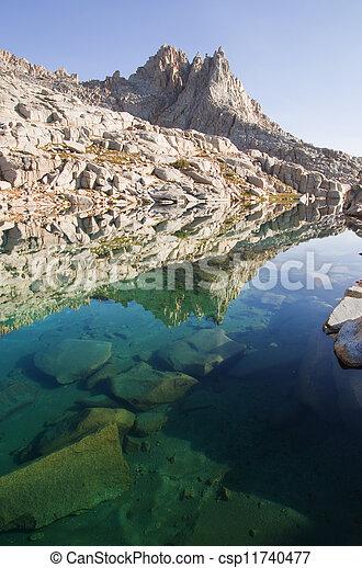 Mountain Lake Reflection - csp11740477