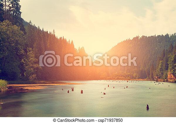 Mountain lake - csp71937850