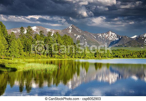 Mountain lake - csp6052903