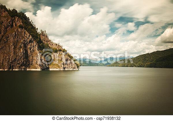 Mountain lake - csp71938132
