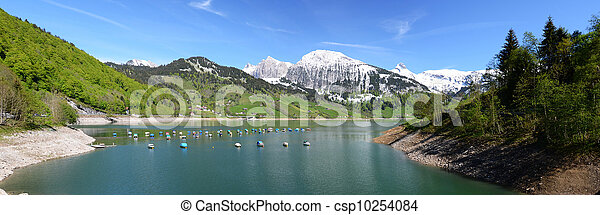 Mountain lake. Switzerland - csp10254084