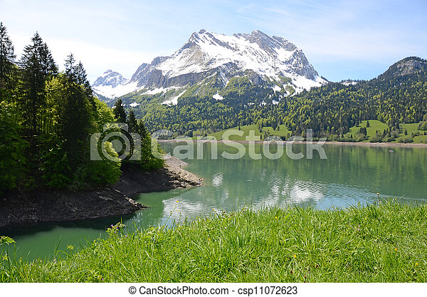 Mountain lake. Switzerland  - csp11072623