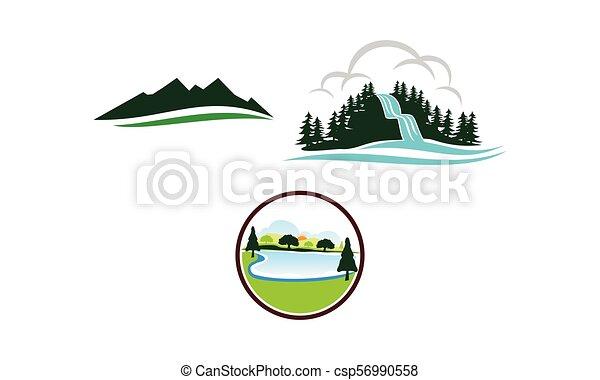 Mountain Lake Template Set - csp56990558