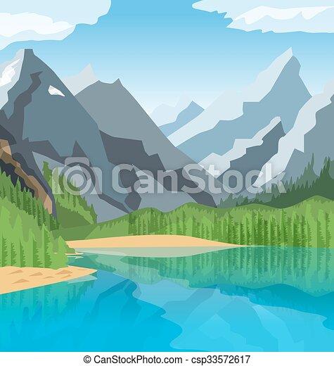 Mountain Lake - csp33572617