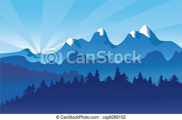Mountain Landscape, Alpine Snow - csp9289152