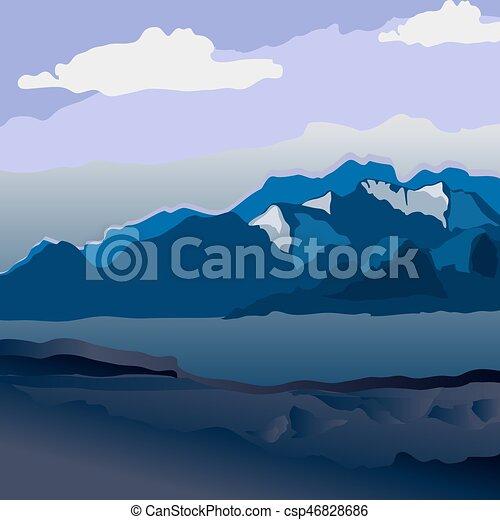 mountain landscape - csp46828686