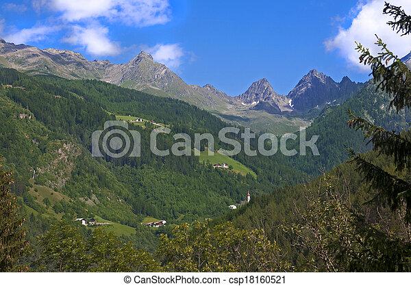 Mountain landscape in Austria Tirol - csp18160521