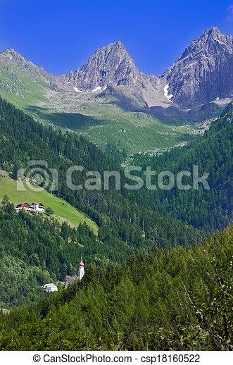 Mountain landscape in Austria Tirol - csp18160522