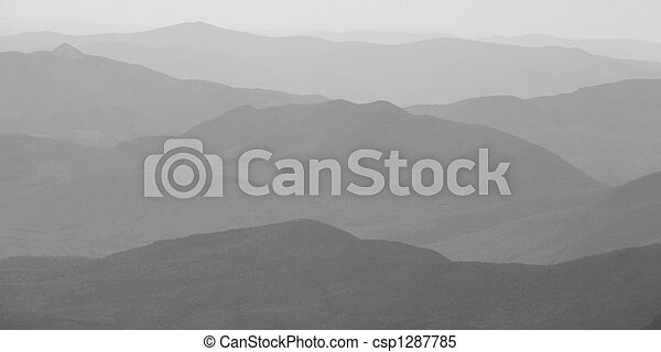 Mountain landscape in B&W - csp1287785