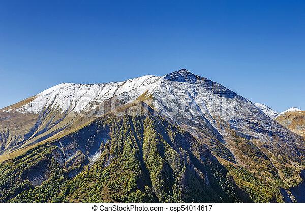 Mountain landscape in Georgia - csp54014617