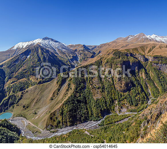 Mountain landscape in Georgia - csp54014645