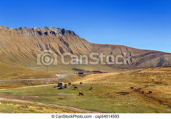 Mountain landscape in Georgia - csp54014593