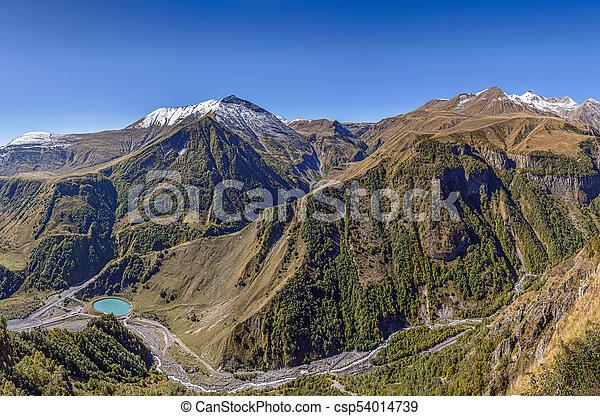 Mountain landscape in Georgia - csp54014739