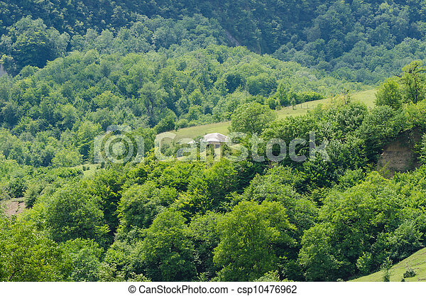 Mountain landscape in summer day - csp10476962
