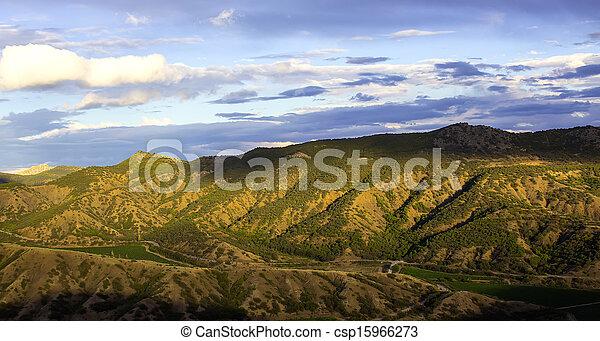 mountain landscape in summer - csp15966273