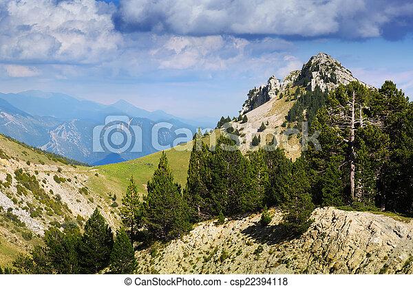 mountain landscape in summer - csp22394118