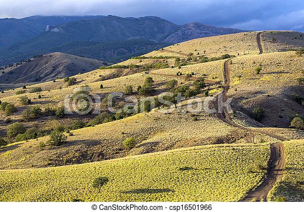 mountain landscape in summer - csp16501966