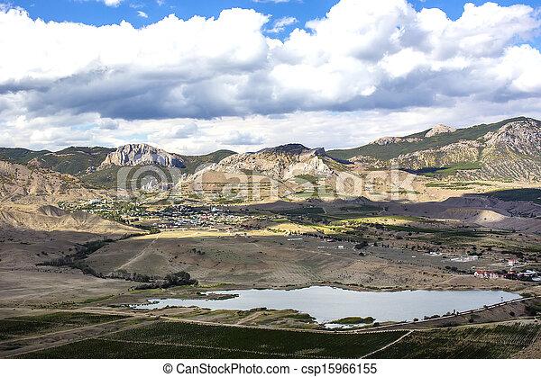 mountain landscape in summer - csp15966155
