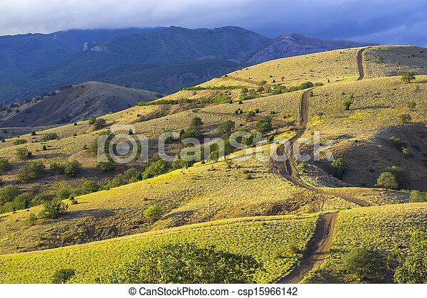 mountain landscape in summer - csp15966142