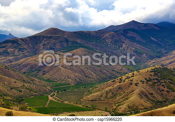 mountain landscape in summer - csp15966220