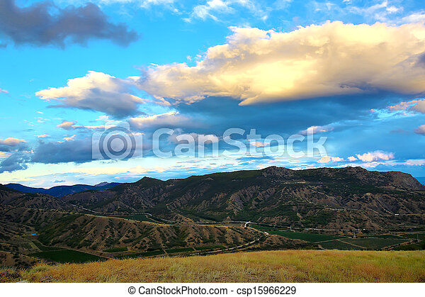 mountain landscape in summer - csp15966229