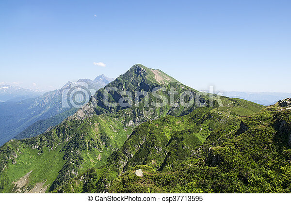 Mountain landscape in summer - csp37713595