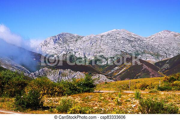 mountain landscape in summer - csp83333606
