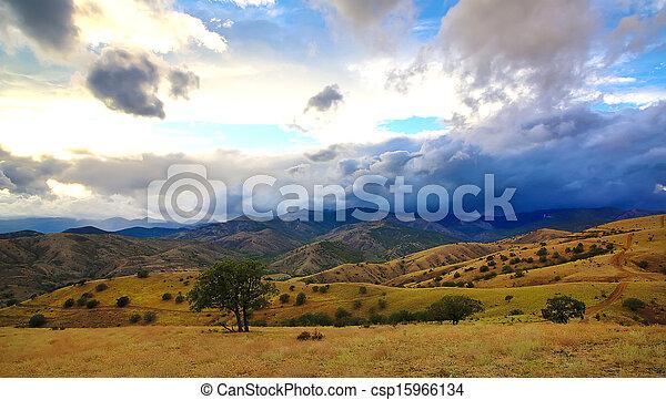 mountain landscape in summer - csp15966134