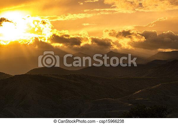 mountain landscape in summer - csp15966238
