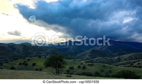 mountain landscape in summer - csp16501939