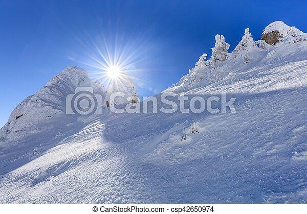 mountain landscape in winter - csp42650974