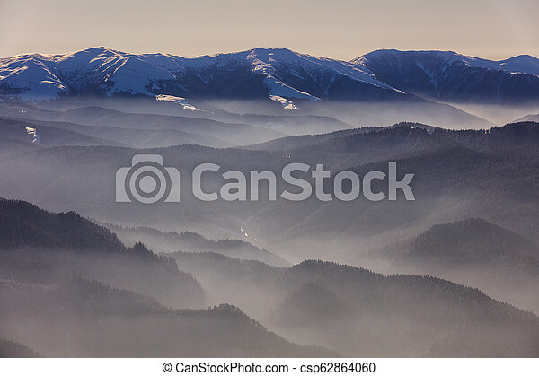 mountain landscape in winter - csp62864060