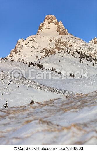 mountain landscape in winter - csp76348063