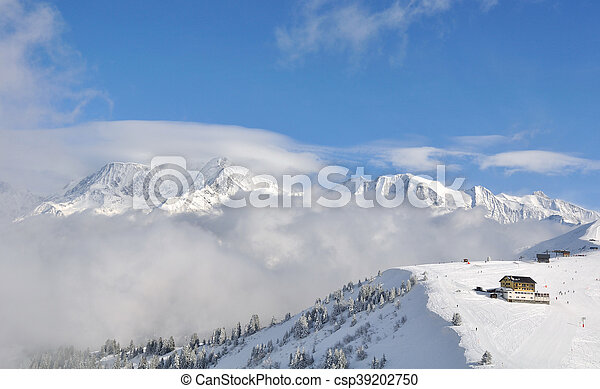 mountain landscape in winter - csp39202750