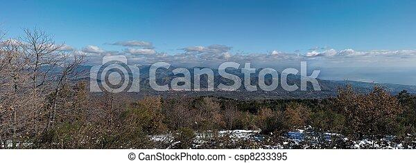 Mountain landscape in winter - csp8233395