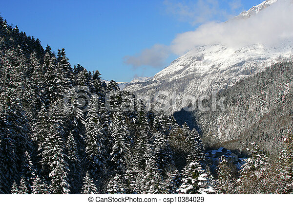 Mountain landscape in winter - csp10384029