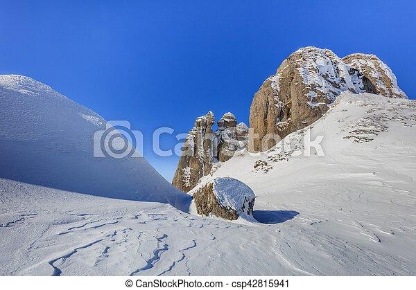 mountain landscape in winter - csp42815941